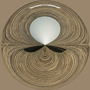 Piers Framed Prints - Round Wood Framed Print by Anne Gilbert