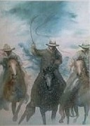 Cowboyboots Paintings - Rounding em up by Rhonda Cacy