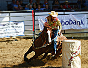 Rodeos Prints - Rounding Third Print by Bill Keiran