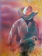Cowgirl Paintings - Roundup by Robert Hooper