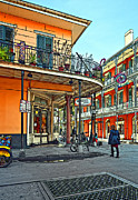 Street Photography Digital Art Prints - Rouses Market painted Print by Steve Harrington