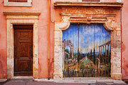 Mural Photos - Roussillon Door by Brian Jannsen