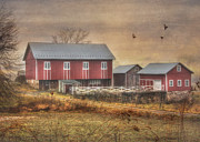 Farms Digital Art Metal Prints - Route 419 Barn Metal Print by Lori Deiter