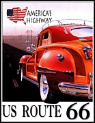 Americas Highway Digital Art - Route 66 Americas Highway by Nomad Art And  Design