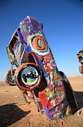 Cow Framed Prints Framed Prints - Route 66 Cadillac Ranch Framed Print by Frank Romeo