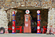 Gas Pump Posters - Route 66 - Cool Springs Camp AZ Poster by Christine Till