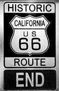 Monica Framed Prints - Route 66 End Framed Print by Chuck Staley
