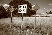 Gravel Road Prints - Route 66 - End of the Road Print by Frank Romeo