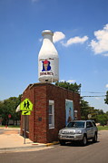 Fine Bottle Posters - Route 66 - Giant Milk Bottle Poster by Frank Romeo