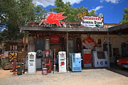 Historic Country Store Posters - Route 66 - Hackberry General Store Poster by Frank Romeo