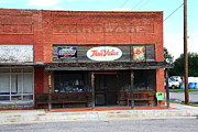 Blue Bricks Photos - Route 66 - Hardware Store Erick Oklahoma by Frank Romeo