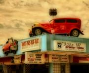 Chevy Coupe Prints - Route 66   HDR Print by Thomas  MacPherson Jr