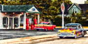 Also Digital Art - Route 66 Historic Texaco Gas Station by Thomas Woolworth