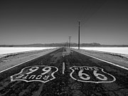 Dry Lake Photos - Route 66 Mojave Desert Salt Flats by Trekkerimages Photography