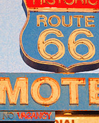Signage Digital Art Posters - Route 66 Motel Seligman Arizona Poster by Wingsdomain Art and Photography