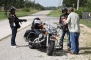 Route 66 Photos - Route 66 - Motorcyclists by Frank Romeo