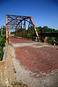 Gravel Road Photos - Route 66 - One Lane Bridge by Frank Romeo
