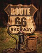 Route 66 Raceway Print by Priscilla Burgers
