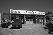 Shea Prints - Route 66 - Sheas Filling Station Print by Frank Romeo