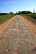 Asphalt Photos - Route 66 - Sidewalk Highway by Frank Romeo