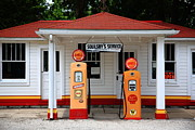 Pumps Prints - Route 66 - Soulsby Station Pumps Print by Frank Romeo