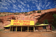 Rocky Mountain Posters Prints - Route 66 Trading Post Print by Frank Romeo