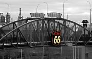 TONY GRIDER - ROUTE 66 TULSA SIGN BW SPLASH