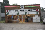 Vacation Framed Prints Framed Prints - Route 66 - Wrinks Market Framed Print by Frank Romeo