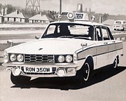 Police Car Paintings - Rover P6 3500 V8 Cop Car by Sid Fox