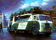 1950s Truck Painting Framed Prints - Rovers for export. Framed Print by Mike  Jeffries