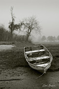 Rowboat Photos - Row Boat and Low Tide by Dave Gordon