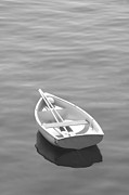 Maine Digital Art Metal Prints - Row Boat Metal Print by Mike McGlothlen