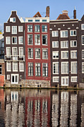 Sights Art - Row Houses in Amsterdam by Artur Bogacki