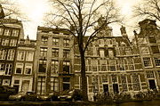 Amsterdam Digital Art - Row Houses by Pravine Chester