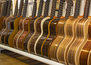 Classic Audio Player Photos - Row of guitars by Patricia Hofmeester