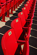 Basketball Players Prints - Row of Red Stadium Seats Print by Birgit Tyrrell