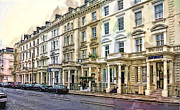 Stoops Prints - Row Townhouses - London Print by Daniel Hagerman