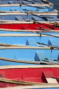 Docked Boats Framed Prints - Row Your Boat Framed Print by Art Block Collections