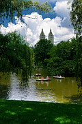 Rowboats Central Park New York Print by Amy Cicconi