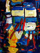 Rhythm Painting Originals - Rowboats under a Tuscan Sun archived by Charlie Spear