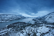 River Scenes Photo Framed Prints - Rowena Snow Framed Print by Darren  White