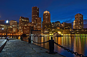 Boston Ma Prints - Rowes Wharf Print by Linda Szabo