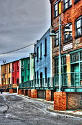 Townhomes Framed Prints - Rowhouses Framed Print by Dan Stone