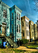 Winter Prints Photos - Rowhouses of Eastern Market IV by Steven Ainsworth