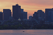 Charles River Photo Prints - Rowing Boston Print by Juergen Roth