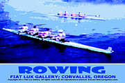 Athletic Digital Art - Rowing by Mike Moore FIAT LUX