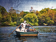 Central Park Prints - Rowing With Best Friend Print by Madeline Ellis