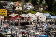Potlatch Photo Framed Prints - Rows of Houses and Sails Framed Print by Melinda Ledsome