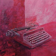 Typewriter Mixed Media - Roxanne by Paul OBrien