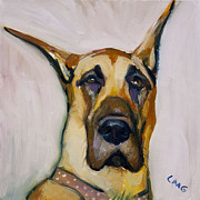 Great Dane Oil Painting Acrylic Prints - Roxy Acrylic Print by Lisa Goldfarb